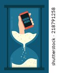 internet   mobile addiction | Shutterstock .eps vector #218791258