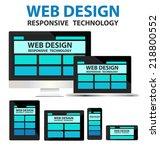 responsive web design concept...