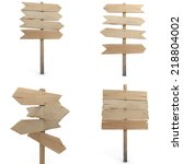 collection of four renderings... | Shutterstock . vector #218804002