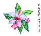 a floral arrangement with... | Shutterstock . vector #218804122