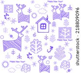 winter wrapper | Shutterstock .eps vector #218809096