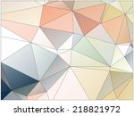 abstract geometric background... | Shutterstock .eps vector #218821972
