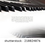 piano keys | Shutterstock . vector #218824876