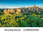Medieval Town Of Pitigliano On...