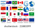 g20 country flags vector... | Shutterstock .eps vector #21883399