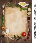 old recipe note background...   Shutterstock . vector #218835046