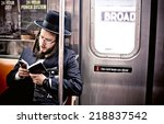 new york. usa   august 21  2012 ... | Shutterstock . vector #218837542