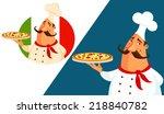funny cartoon illustration of...   Shutterstock .eps vector #218840782