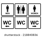 male and female wc icon... | Shutterstock .eps vector #218840836