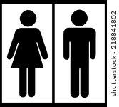 toilet sign  | Shutterstock . vector #218841802