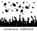 graduation  graduates tossing... | Shutterstock . vector #218842225
