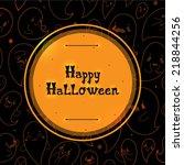 happy halloween black cover...   Shutterstock .eps vector #218844256