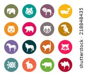 Stock vector animals icon set 218848435