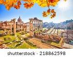 Roman Ruins In Rome  Italy