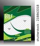 golf flyer template vector... | Shutterstock .eps vector #218863318