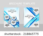flyer template back and front... | Shutterstock .eps vector #218865775