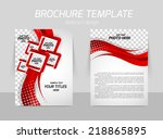 flyer back and front template... | Shutterstock .eps vector #218865895