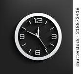 Clock Symbol On Dark Backgroun...
