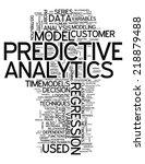 word cloud with predictive...   Shutterstock . vector #218879488
