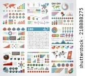 infographics design templates... | Shutterstock .eps vector #218888275