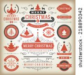 christmas decoration vector... | Shutterstock .eps vector #218890342