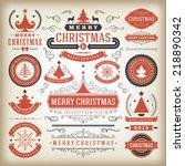 christmas decoration vector... | Shutterstock .eps vector #218890342