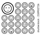 faces emoticon icons cartoon...
