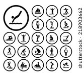water sport vector icon set  | Shutterstock .eps vector #218903662