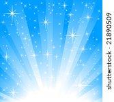 blue star burst background | Shutterstock .eps vector #21890509