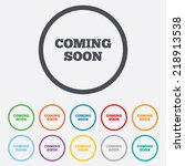 coming soon sign icon.... | Shutterstock . vector #218913538