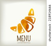 watercolor style menu design.... | Shutterstock .eps vector #218914666
