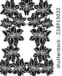 black and white pattern with... | Shutterstock .eps vector #218915032