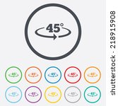angle 45 degrees sign icon.... | Shutterstock . vector #218915908