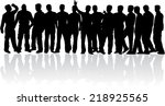 silhouettes of a man.  | Shutterstock .eps vector #218925565