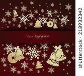 background with christmas bells ... | Shutterstock .eps vector #218932342