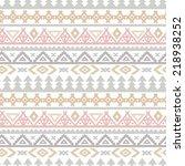tribal art ethnic seamless...   Shutterstock .eps vector #218938252