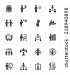 business management icons | Shutterstock .eps vector #218940898