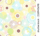 dandelion floral pattern. | Shutterstock .eps vector #218945698