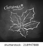 chalkboard drawing of christmas ...   Shutterstock .eps vector #218947888