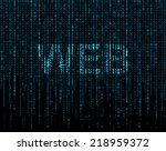matrix background with the word ... | Shutterstock . vector #218959372