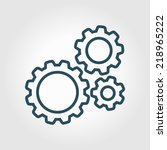 icon of gears. flat style.  | Shutterstock .eps vector #218965222