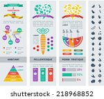 healthy food infographic... | Shutterstock .eps vector #218968852