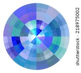 composition of abstract radial... | Shutterstock . vector #218975002