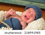 newborn crying. | Shutterstock . vector #218991985