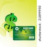 green credit card | Shutterstock .eps vector #21899950