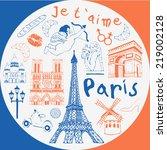 paris pattern | Shutterstock .eps vector #219002128