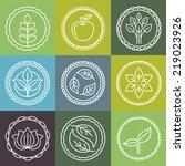 vector abstract emblem  ... | Shutterstock .eps vector #219023926