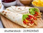 mexican fajitas | Shutterstock . vector #219024565