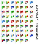 flags of africa countries... | Shutterstock .eps vector #219025345