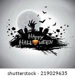 illustration on a halloween... | Shutterstock . vector #219029635